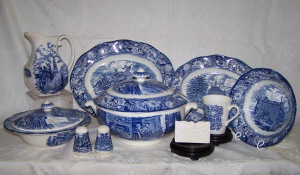 & Staffordshire Liberty Blue Dinnerware